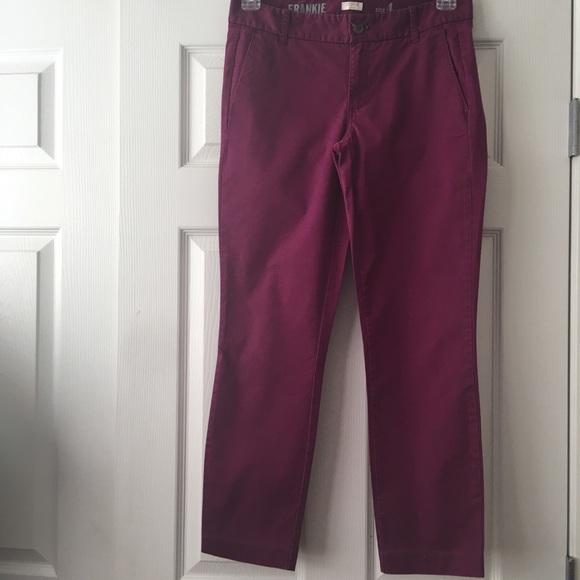 J. Crew Frankie Purple Pants Size 4